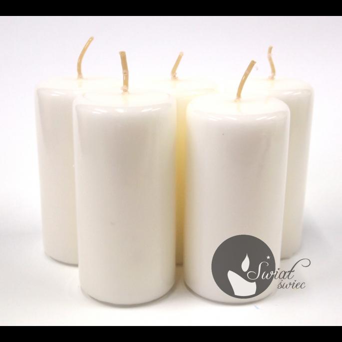 świeca Walec Lakier 50x100 Mm Biały